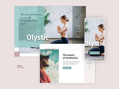 Olystic theme concept UI web design ui ui design
