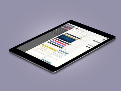 H360 Timeline UI health mobile app tablet