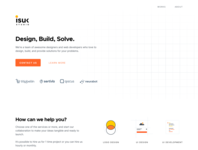 Isuk Landing Page minimalist agency design grid clean white landing page