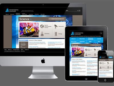 Annenberg Learner - Responsive mini site iconography responsive design ui