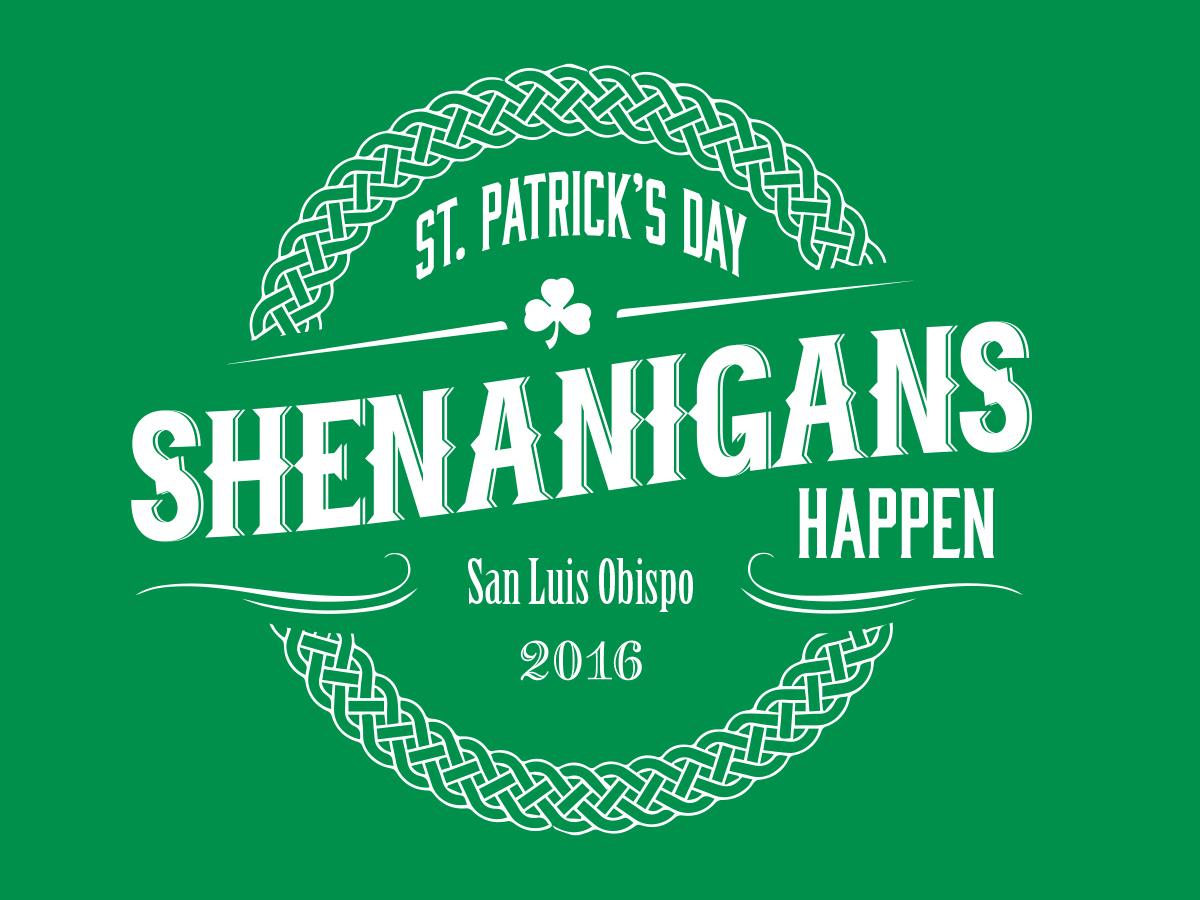 St. Patrick's Day T-shirt Design tshirt design logotype illustration