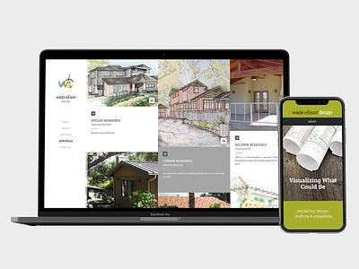 Responsive web for Wade Ellison Design brand css 3 html 5 responsive design visual design web  design