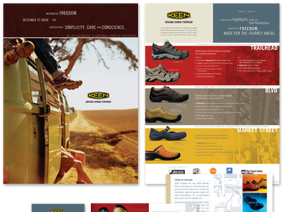Keen Footwear - Poster & Mini Brochure product page poster design