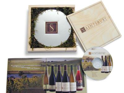 Saintsbury Press Kit media kit packaging brand