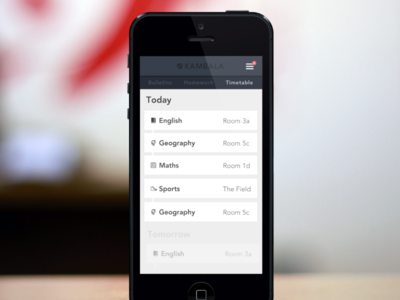 School Education App - timetable