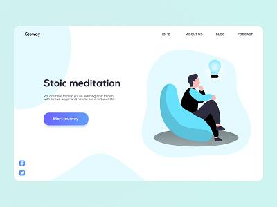 Landing page ∥ Daily UI 003 website concept website illustration 003 ux ui minimal clean