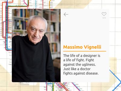 UI Card – Massimo Vignelli Quote