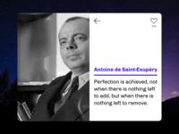 UI Card – Antoine de Saint-Exupéry