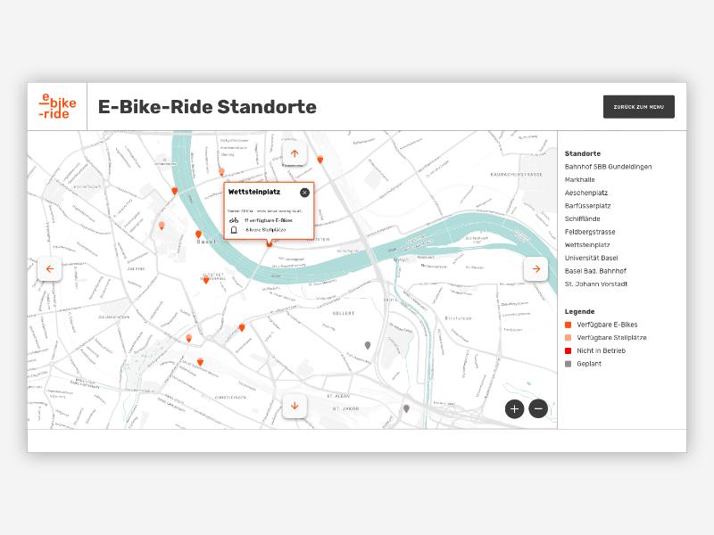 E bike ride map