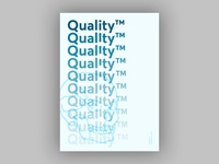 Quality (Blankposter)