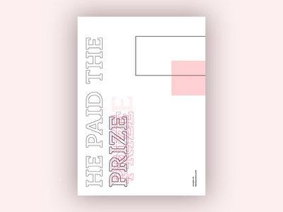 Prize (Blankposter) prize poster typo typography font type print blankposter
