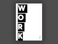 Work (Blankposter)