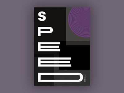 Speed (Blankposter) speed poster typo typography font type print blankposter