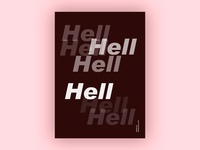 Hell (Blankposter)