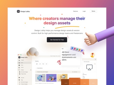 All-In-One Design Assets Manager version control manage designs icons git fonts file upload assets illustration designer design assets asset management