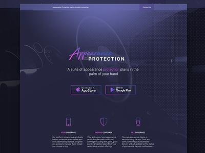 Landing Page landing interface ui design website web purple clean