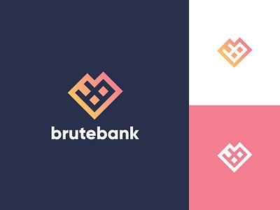 Brutebank Logo identity branding security bank brute brand assets mark app icon brand agency branding identity logo