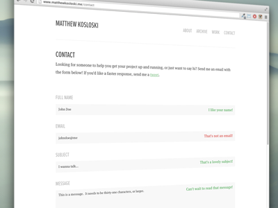 Contact wordpress web design html css javascript php blog