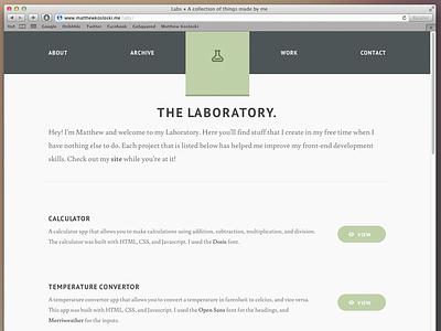 The Laboratory html5 css3 jquery nav font web web design resposive design lab batch about