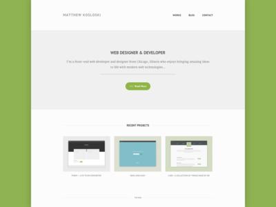 New Portfolio html5 css3 jquery nav font web web design resposive design portfolio