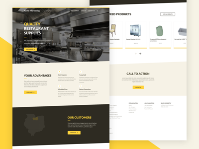 Restaurant Supply — Homepage lato restaurant brown yellow homepage web design website web