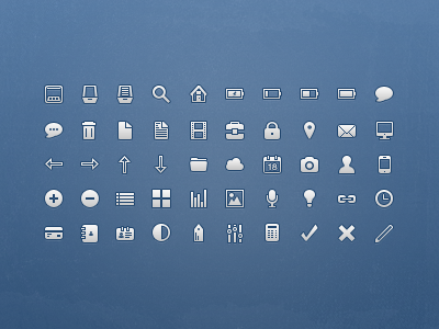 16px Icons icons glyph arrows grunge blue iphone mail 16px png vector texture user chat camera switches messaging icon clock search arrow link cloud credit card battery ui