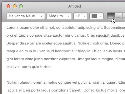 Text Editor text editor edit ui mac app notes vector buttons simplicity user interface