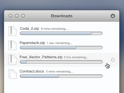 Downloads downloads download app ui vector icon window user interface manager mac