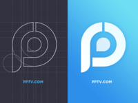 Redesign the logo (Pratice) pptv vi grid blue p logo