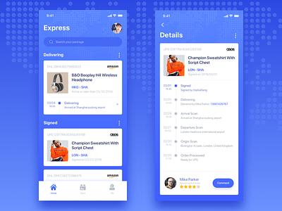 Express App UI Design delivery shopping express ui app