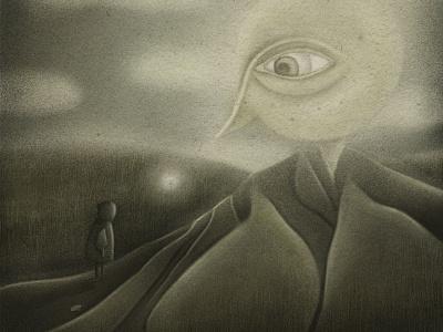 Lullaby moon magic illustration illustration artist landscape texture procreate art procreate illustrator kids illustration illustration illustration art artist