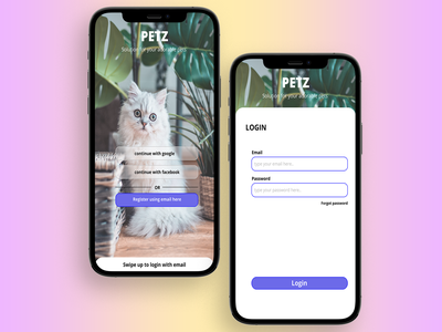 Petz - Solution for your adorable pets ux ui uidesign mobile apps mobi