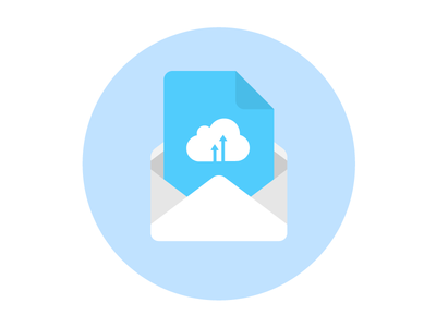 Cloud Email Service Icon illustration envelope mail material email web cloud flat icon