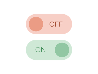 Simple Flat Toggle Switches clean simple interface ux ui flat switch toggle