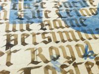Blackletter on letterpress