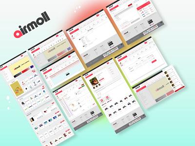 Ecommerce website page UI website web logo illustration ux ui typography design app