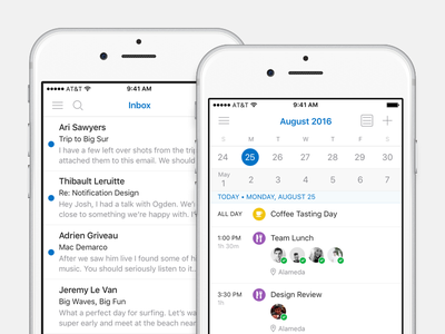 Outlook for iOS mobile native kit guideline ui outlook