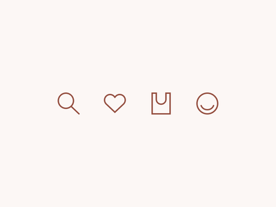Baggu Icons ecommerce shopping profile cart bag heart love search retail icons baggu