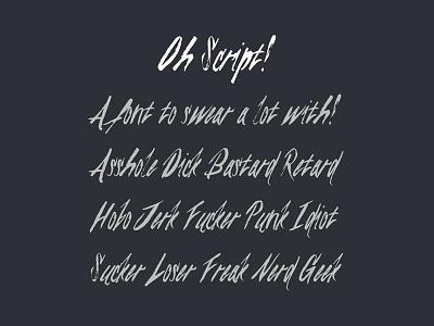 [Free Font] Oh Script! free font typography script handwritten