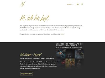 Website Concept website webdesign web design portfolio personal minimal script