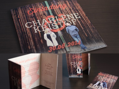 Rustic Wedding Invitation wedding invitation typography wood rustic autumn fall farm