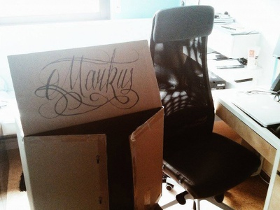 Markus markus calligraphy typography script decorative black handlettering lettering