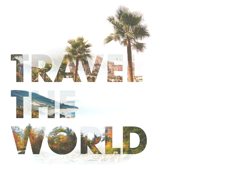 Travel the World photography stock typography travel