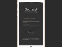 Daily UI #001 - Gourmet App Login