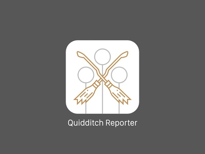 Daily UI 005 - Quidditch Reporter App Icon grey white gold minimal potter harry quidditch appicon 005 dailyui icon app