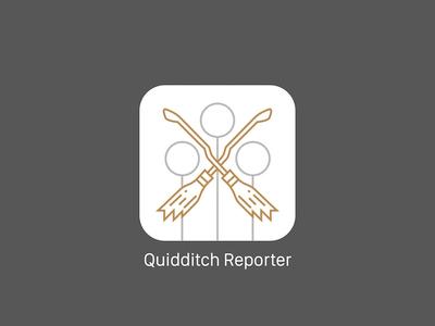 Daily UI 005 - Quidditch Reporter App Icon grey white gold minimal potter harry quidditch appicon 005 dailyui icon app