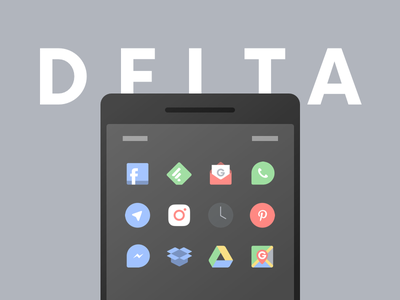 Delta Icons icon pack sketch illustration homescreen customization ui ios android pastel icons