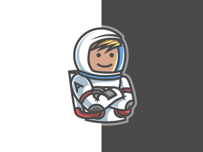 Andynaut youtube gaming toon illustration sketch mascot astronaut