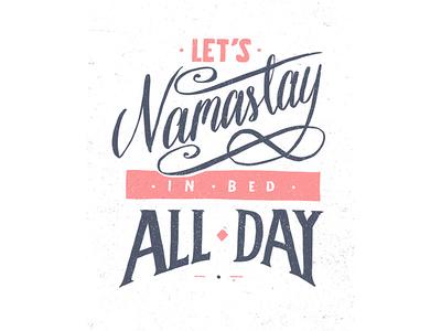 Namastay pastel procreate lettering calligraphy