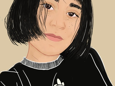 Black portrait illustration portrait art portrait girl illustration girl digital illustration digitalilustration digital art